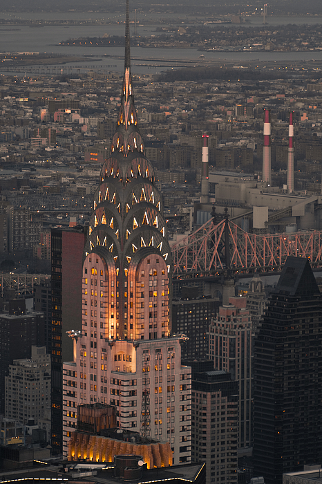 Chrysler Building in the evening. Photograph by Merten Snijders