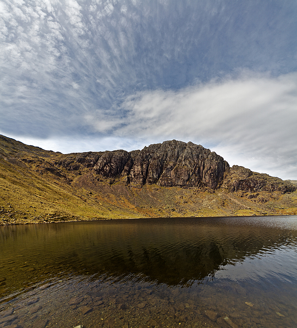 Cirrocumulus clouds over Stickle Tarn & Pavey Ark Photograph by s0ulsurfing - Jason Swain