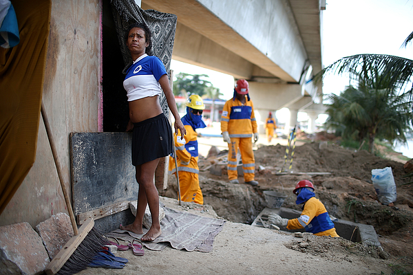 City Of Rio Works To Improve Infrastructure Ahead of World Cup And Olympics Photograph by Mario Tama