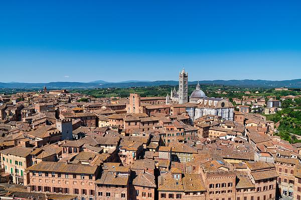 City of Siena and its Cathedral (Duomo) of Santa Maria Assunta, Tuscany Photograph by Mauro Tandoi