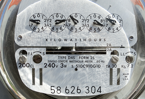 Classic Analog Electrical Power Meter, Metering Energy Use Photograph by Mirror-images