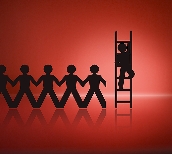 Climbing the ladder Photograph by Danleap