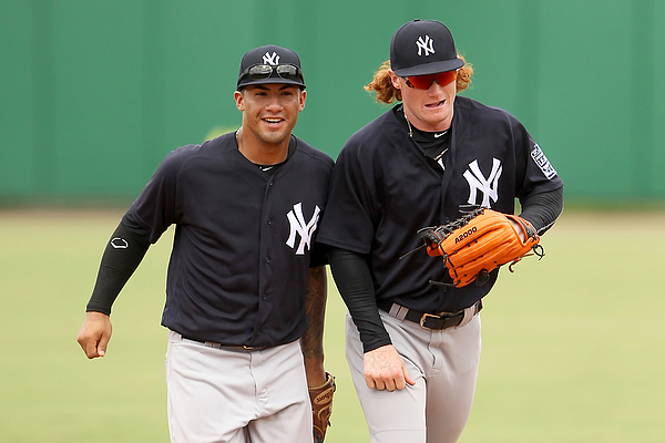 Clint Frazier and Gleyber Torres Photograph by Icon Sportswire