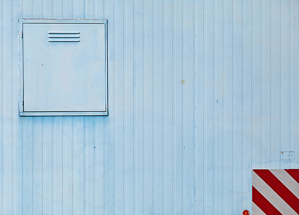Close Up Of A Construction Trailer In Blue Photograph by Christian Beirle González
