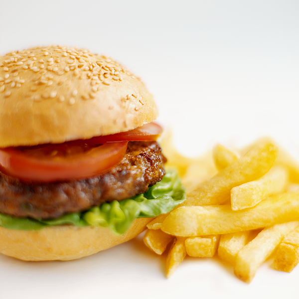 Close-up of burger and french-fries Photograph by Ciaran Griffin