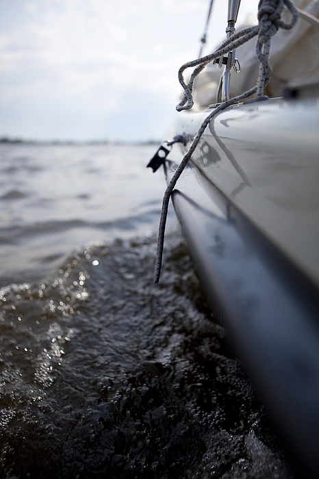 Close-up Of Cropped Boat In River Photograph by Paulien Tabak / EyeEm