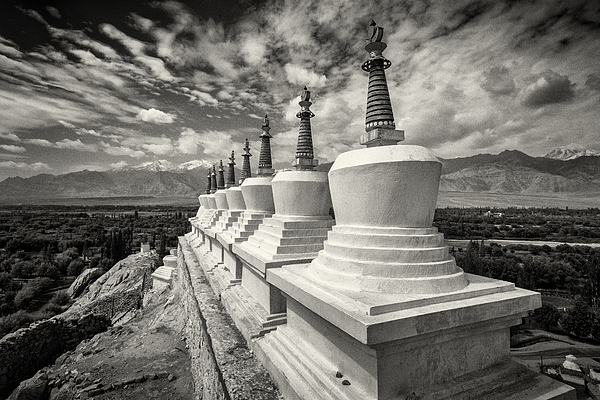 Close up of monuments in remote landscape, Leh, Ladakh, India Photograph by Jeremy Woodhouse
