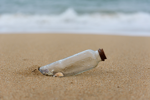 Close-Up Of Shells In Glass Bottle At Beach Photograph by Zhijian Yu / EyeEm