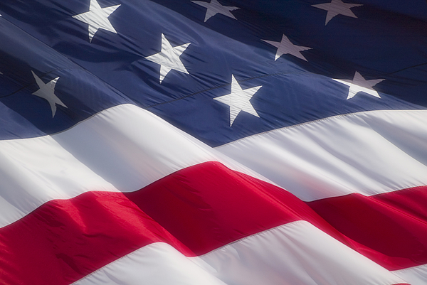 Close-up Of The American Flag Photograph by Photodisc
