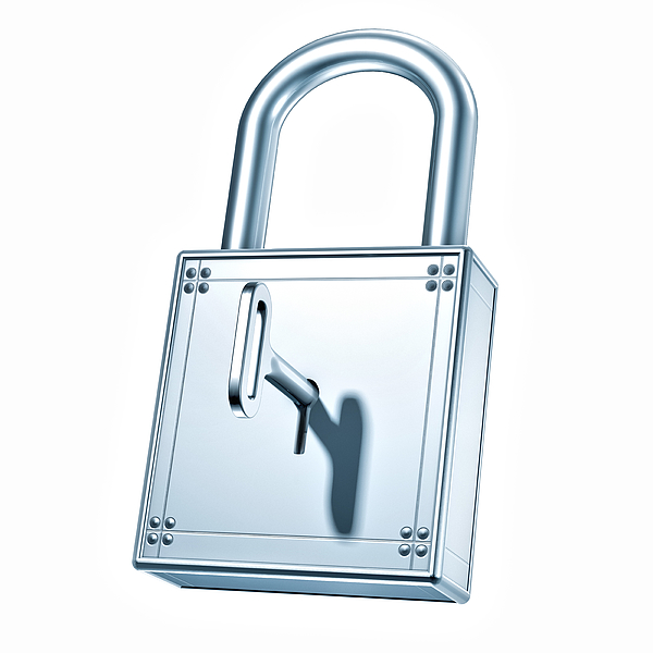 Closed Padlock made of steel Photograph by Artpartner-images
