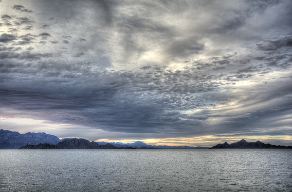 Clouds Over Sea Of Cortes At Sunset Photograph by Created by MaryAnne Nelson