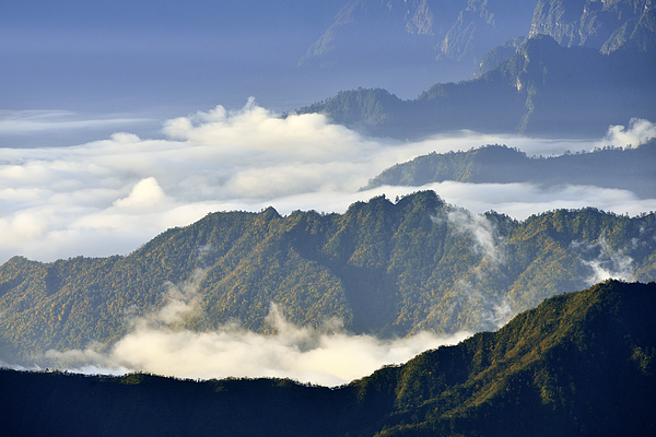 Cloudscape and Mountain at Morning Photograph by Zorazhuang