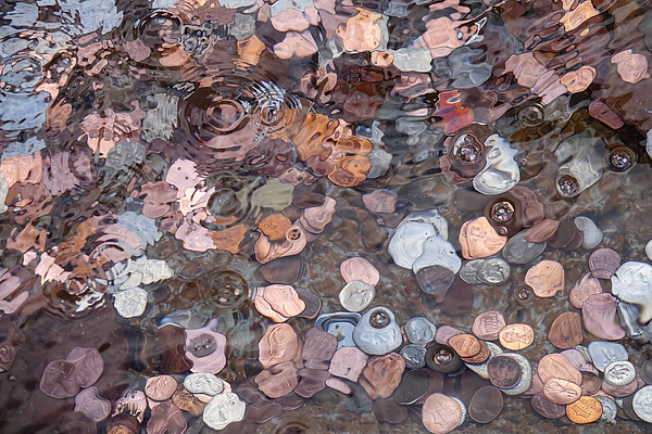 Coins In A Wishing Well Photograph by Patricia Marroquin