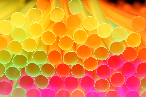 Colorful Drinking Straw - Shallow Focus Photograph by Pejft