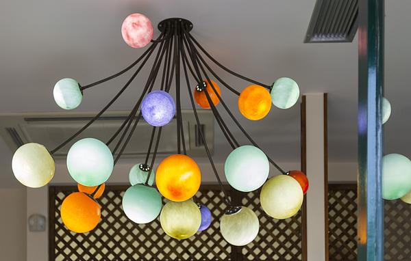 colorful modern lamps Hanging Photograph by Adél Békefi