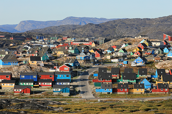 Colorful Wooden Houses In A Mountaineous Nordic Region Photograph by Rainer Grosskopf