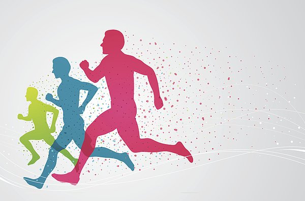 Colourful runners Drawing by Mustafahacalaki