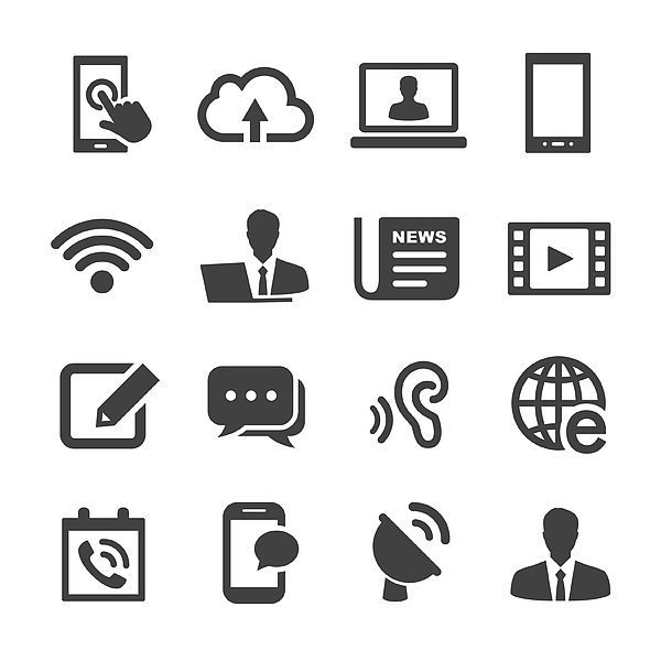 Communication Icons - Acme Series Drawing by -victor-
