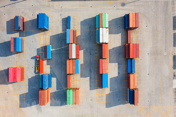 Container aerial view Photograph by Liyao Xie