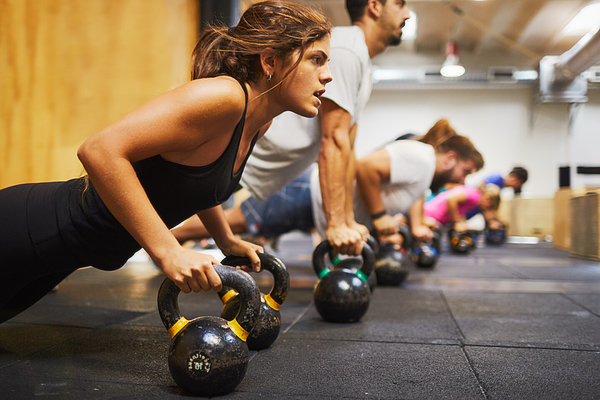 Cross Training Gym, Exercising And Focus Concepts. Photograph by Tempura