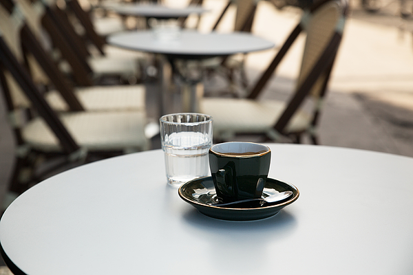 Cup of Coffee, French Pub Photograph by Jean-Marc PAYET