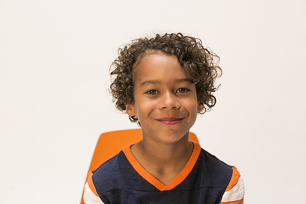 Cute Boy On White Backdrop Photograph by A Party With no Cake