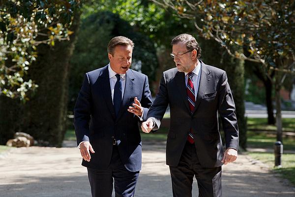 David Cameron Meets Spanish President Mariano Rajoy Photograph by Pablo Blazquez Dominguez