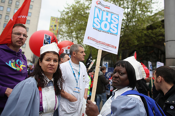 Defend Londons NHS Protest Photograph by Oli Scarff