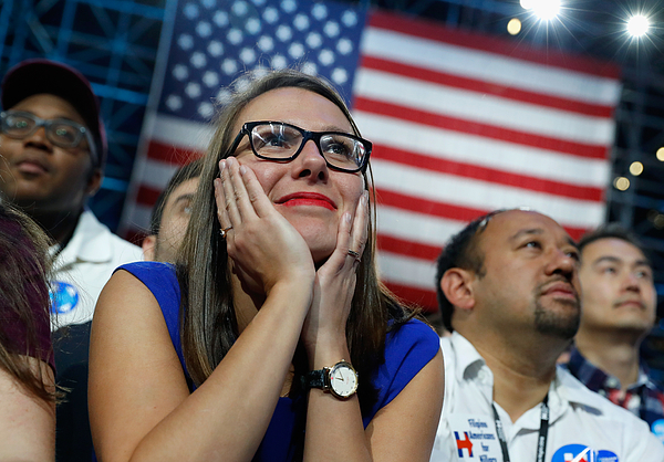 Democratic Presidential Nominee Hillary Clinton Holds Election Night Event In New York City Photograph by Aaron P. Bernstein