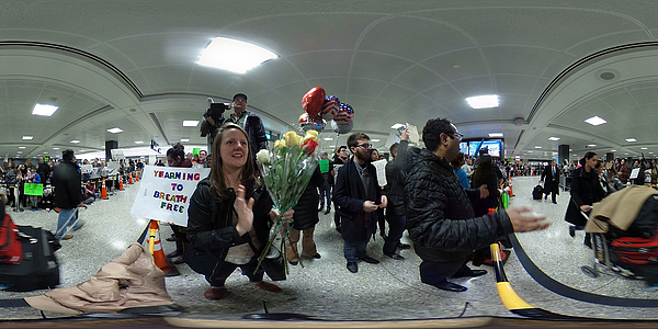 Demonstrators Protest At Dulles International Airport Against Muslim Immigration Ban Photograph by Alex Wong