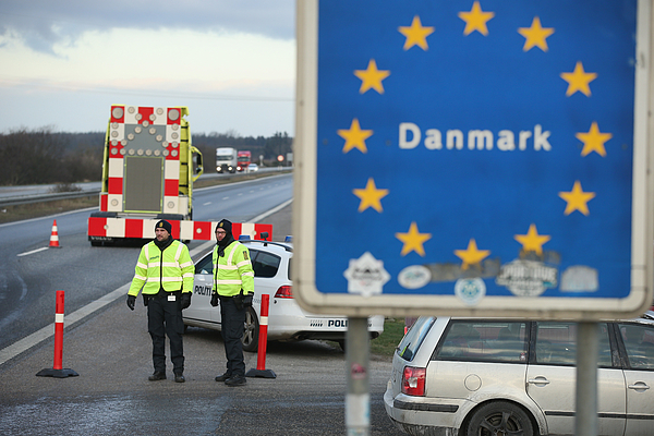 Denmark Imposes Stricter Controls Across Their Border With Germany Photograph by Sean Gallup