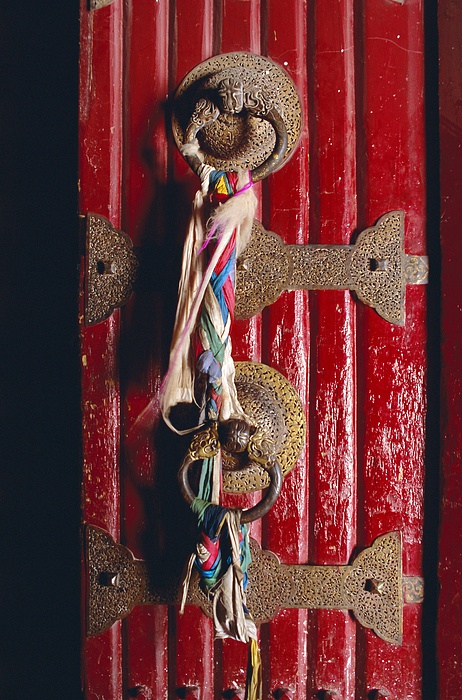 Detail Of Main Door, Potala Palace, Lhasa, Tibet, China, Asia Photograph by Gavin Hellier / robertharding