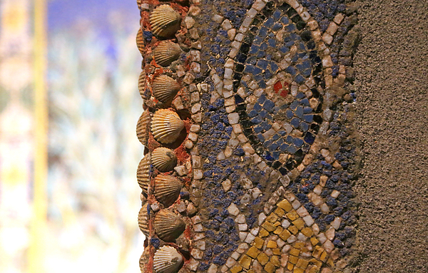 detail of mosaic with sea shells in Pompeii Photograph by Itsabreeze Photography