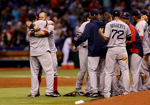 Division Series - Boston Red Sox V Tampa Bay Rays - Game Four Photograph by Mike Ehrmann