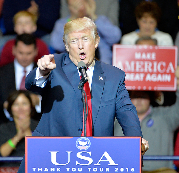 Donald Trump Holds Thank You Rally In Fayetteville, NC Photograph by Sara D. Davis