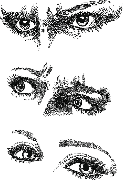 Doodles. Expressive Eyes Drawing by GeorgePeters