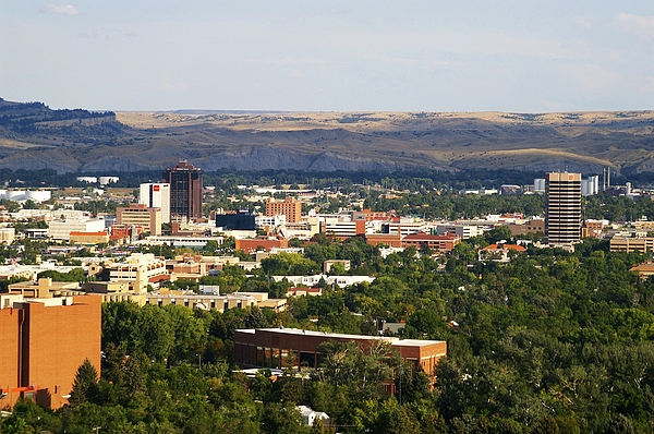 Downtown Billings, Montana Photograph by Ron Reiring
