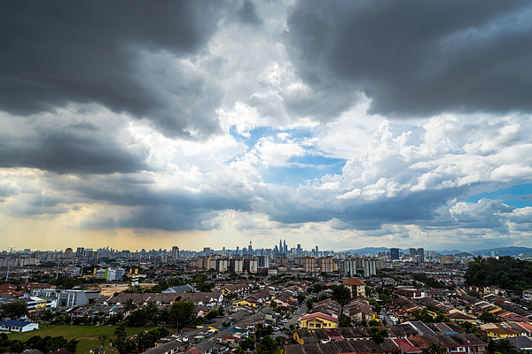 Downtown Kuala Lumpur During Cloudy Day Photograph by Shaifulzamri