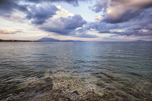 Dramatic sea view from Datca on a cloudy day in winter. Photograph by Emreturanphoto