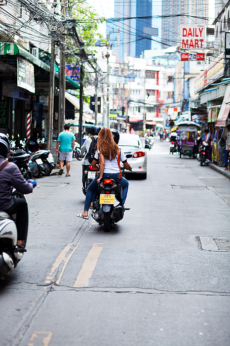 Driving with motorcycle taxi Photograph by Justhavealook