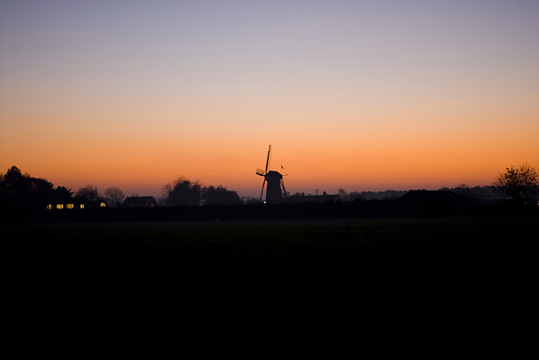 Dutch Windmill at sunset Photograph by Lyn Holly Coorg