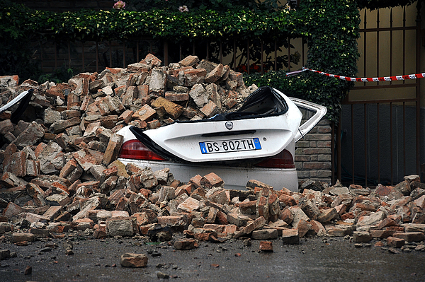 Earthquake Hits Northern Italy Photograph by Roberto Serra/Iguana Press