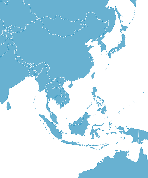 East Asia Map Drawing by Pop_jop