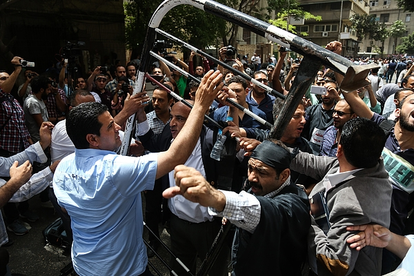 Egyptian journalists protest in Cairo Photograph by Anadolu Agency