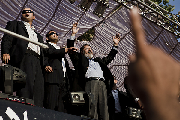 Egypts Morsi takes symbolic oath of office in Tahrir Square Photograph by Ed Giles