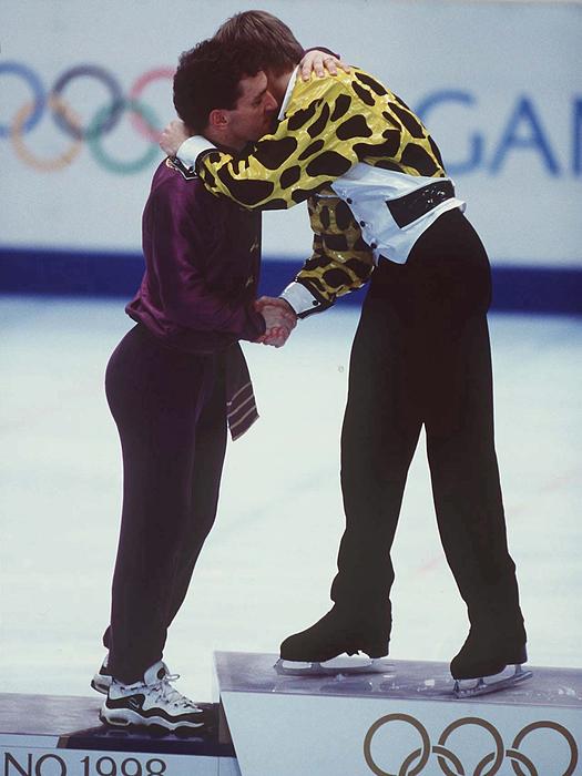 Eiskunstlauf: Nagano 1998, 14.02.98;siegerehrung Maenner: Photograph by Ruediger Fessel