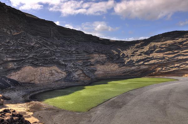 El Lago Verde in Lanzarote Photograph by Copyright by Laszlo Szirtesi