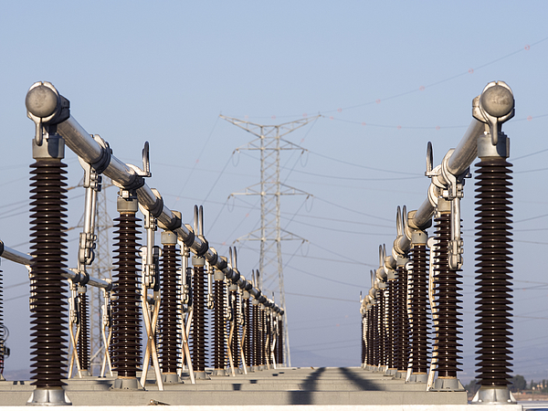 Electric Power Station And Tower Of High Tension Photograph by Jose A. Bernat Bacete