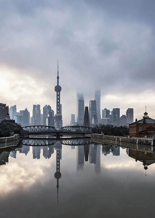 Elevated View Of Shanghai Lujiazui At Dawn Photograph by Xiaodong Qiu