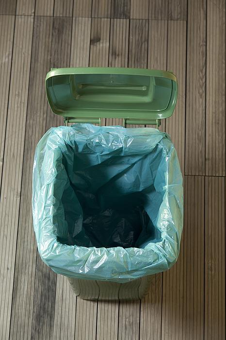 Empty Green Trash Can Photograph by Baranozdemir